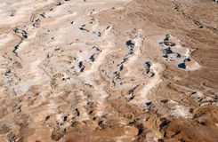 Terreno del desierto en la región del mar muerto Foto de archivo