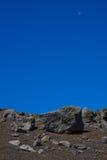 Terreno del vulcano che assomiglia al moonscape Fotografia Stock Libera da Diritti