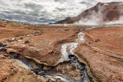 Terreno excitante de Namafjall, Islândia Fotos de Stock