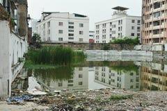 Terreno incolto della città Immagine Stock Libera da Diritti