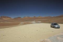 Terreno marziano nel deserto Immagini Stock