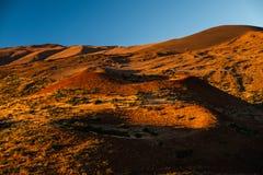 Terreno montanhoso do vulcão de Mauna Kea foto de stock