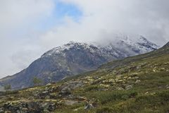 Terreno montanhoso em Noruega Parque nacional de Jotunheimen imagens de stock royalty free