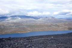 Terreno montanhoso em Noruega Parque nacional de Jotunheimen fotos de stock