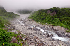 Terreno na montagem Shirouma nos cumes de Japão Imagens de Stock