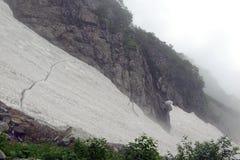Terreno na montagem Shirouma nos cumes de Japão Fotos de Stock Royalty Free
