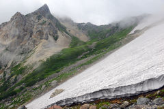 Terreno na montagem Shirouma nos cumes de Japão Imagem de Stock Royalty Free