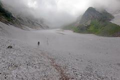 Terreno na montagem Shirouma nos cumes de Japão Foto de Stock Royalty Free