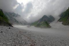 Terreno na montagem Shirouma nos cumes de Japão Fotografia de Stock Royalty Free
