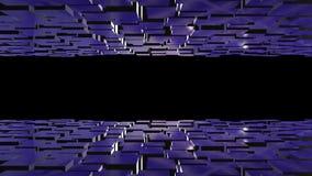 terreno/paisaje del espacio 3D Animación futurista del fondo ilustración del vector