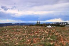 Terreno roccioso del Wyoming Fotografia Stock