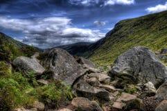 Terreno roccioso in Wicklow Fotografia Stock