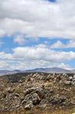 Terreno rocoso en los Andes Imagenes de archivo