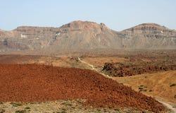 Terreno rosso vicino a Teide Fotografia Stock