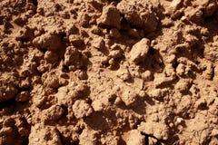 Terreno strutturato di agricoltura rossa dell'argilla Immagini Stock Libere da Diritti