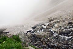 Terreno sul supporto Shirouma nelle alpi del Giappone Immagini Stock Libere da Diritti
