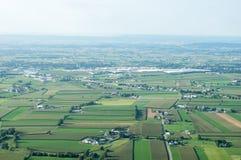 Terres cultivables à l'horizon Photo stock