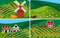 Terres cultivables Images libres de droits