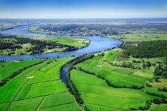 Terres cultivables aériennes Images libres de droits