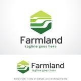Terres cultivables abstraites Logo Template Design Vector, emblème, concept de construction, symbole créatif, icône Photographie stock