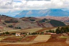 Terres cultivables dans la vallée sacrée péruvienne Images libres de droits