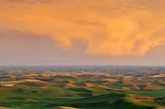 Terres cultivables dans Palouse Washington image libre de droits