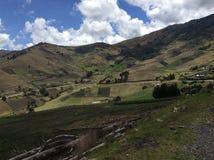 Terres cultivables de haute altitude photo stock