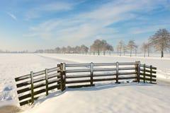 Terres cultivables de l'hiver Photo libre de droits
