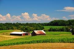 Terres cultivables de la Pennsylvanie photos stock