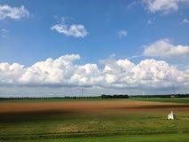 Terres cultivables des Pays-Bas Images libres de droits