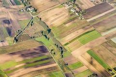Terres cultivables polonaises près de Cracovie Photos stock