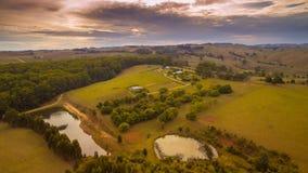 Terres cultivables rurales renversantes, Australie Image libre de droits