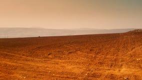 Terres cultivables sèches d'été Photographie stock