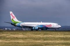 Terres de vol d'Air Vanuatu à l'aiport de Sydney Image libre de droits