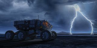 Terrestrial force exploring royalty free illustration