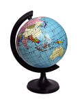 Terrestrial globe. Isolated on a white background royalty free stock images