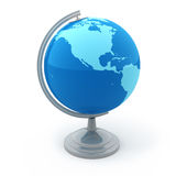 Terrestrial globe. 3d render on white Stock Photography