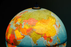 Terrestrial globe. On black background royalty free stock photo