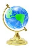 Terrestrial globe. On a white background stock images