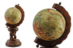 Terrestrial globe closeup Royalty Free Stock Photography