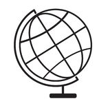 Terrestrial globe icon on white background. Terrestrial globe symbol. globe sign. flat style Royalty Free Stock Photography
