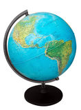 Globe. Terrestrial globe isolated on a white, clipping path included Stock Photography