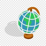 Terrestrial globe isometric icon. 3d on a transparent background vector illustration Royalty Free Stock Photo