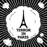 Terreur à Paris Photographie stock