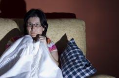 Terreur veille de la toussaint de femme Photographie stock libre de droits
