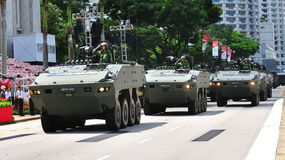 Terrex mobile column at NDP 2010 Royalty Free Stock Images