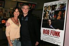 Terri Mann en Ben Ruffman bij de Première van Los Angeles van de ?Lafbek van het Loodje?. De Zonsondergang van Laemmle 5 Theaters, royalty-vrije stock fotografie