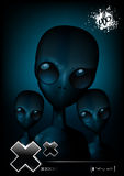 Terrible aliens. Darkness, terrible aliens looking at you Stock Photography