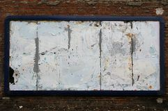 Terrible bilboard. Awful blank bilboard on wall Royalty Free Stock Photography