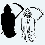 Terrible death with a scythe Stock Photo